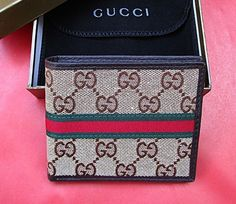 New Gucci GG Canvas Men's Brown Color Guccissima Margaux Bifold Wallet. #Bifold