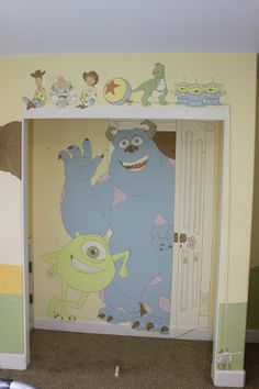 How stinkin' cute is this? Click for pictures of the whole Disney/Pixar inspired nursery