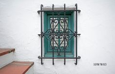 Master Ironworks Custom Designs and Hand Forges Luxury Ironwork including Fireplace Screens, Pergolas, Window Grilles and More! Spanish Revival Home, Wrought Iron Decor, Windows, Iron Windows, Bathroom Design Inspiration, Iron Window Grill, Window Security, Tuscan Style Homes, Iron Decor