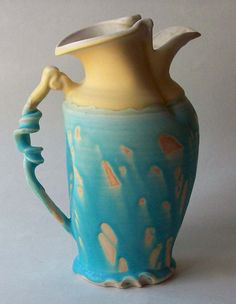 Larry Watson #blue #yellow #ceramics