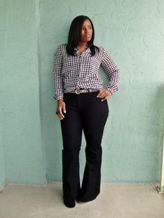 Tipp für lange Beine: Kauft die Hose etwas zu lang und tragt Schuhe mit Plateau dazu