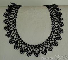 Lace tatted collar II made to ORDER by IzabelkasJewelry on Etsy Tatting Patterns, Doily Patterns, Dress Patterns, Tatting Necklace, Tatting Jewelry, Needle Tatting, Tatting Lace, Crochet Collar, Lace Collar