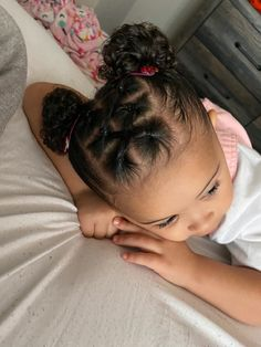 Black Baby Girl Hairstyles, Mixed Baby Hairstyles, Cute Toddler Hairstyles, Easy Little Girl Hairstyles, Girls Natural Hairstyles, Kids Braided Hairstyles, Hair Styles For Toddler Girls Curly, Curly Hair Styles, Childrens Hairstyles