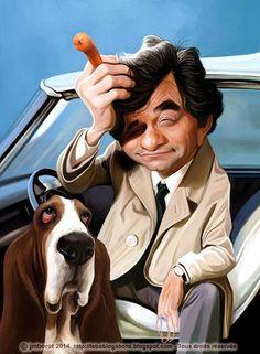 Caricature of Peter Falk as Colombo Cartoon Faces, Funny Faces, Cartoon Drawings, Cartoon Art, Cartoon Characters, Caricature Artist, Caricature Drawing, Funny Caricatures, Celebrity Caricatures