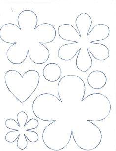 moldes para flores de goma eva - Buscar con Google