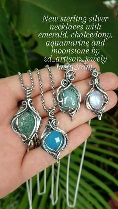 Wire Jewelry Patterns, Wire Weaving, Wire Work, Wire Wrapped Jewelry, Crystal Jewelry, Silver Necklaces, Artisan Jewelry, Spoon, Wrapping