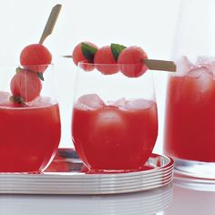 Watermelon Sangria | A riff on classic Spanish sangria, a traditional punch composed of wine, fruit and brandy, this recipe is made with juicy watermelon instead.