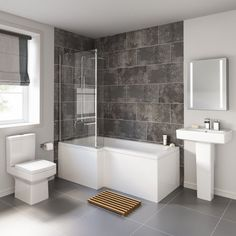 See why we're specialists in bathroom suites and beautiful bathroom designs! Designer, modern & traditional bathroom suites for all shapes, sizes & budgets. Bathroom Layout, Bathroom Interior Design, Modern Bathroom, Small Bathroom, Bathroom Ideas, Bathroom Designs, Bathtub Ideas, Bathroom Renovations, Bad Inspiration