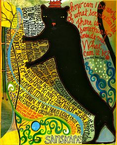 Black cat , made by: Teesha Moore Mixed Media Journal, Mixed Media Collage, Collage Art, Artist Journal, Art Journal Pages, Art Journaling, Art Journal Inspiration, Art Inspo, Painting Inspiration