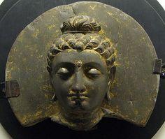 Lahore Museum. Gandhara Art. Head of Buddha