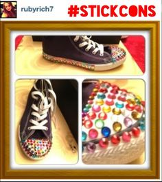 We love this pic that Ruby posted of her sneakers on Instagram!   Follow us on Instagram @Stickcons & use the #Stickcons Get creative, Get your bling on, customise your sneakers with Stickcons Kits STICKCONS.COM Love Pictures, Our Love, You Got This, Bling, Kit, Facebook, Twitter, Creative, Sneakers