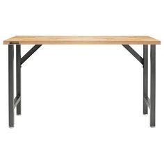 Gladiator Starter Series Workbench with Rubberwood top. A sturdy worktop with adjustable legs. Wood Top Workbench, Rolling Workbench, Adjustable Height Workbench, Adjustable Legs, Gladiator Garageworks, Patio Furniture Sets, Modular Design