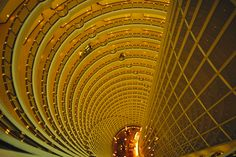 The Jin Mao tower looking down from the Grand Hyatt hotel levels.Location: Shanghai, People's Republic of China.  Photographer: JUSTIN GUARIGLIA/National Geographic Creative