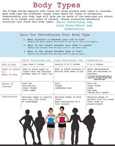 What is your body type? Need help with it? Let me know! Michelle@t-Tapp.com