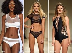 Check out the top spring/ summer 2017 swimwear trends that appeared on the Miami Swim Week among others and pick out which pieces are the best fit for you! Vintage Swimsuits, Swimwear Fashion, I Love Fashion, Spring Summer, Summer Fun, Bathing Suits, Beachwear, Cool Style, One Piece