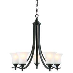 Design House Juneau 5-light Energy Star Oil Rubbed Bronze Chandelier | Overstock.com