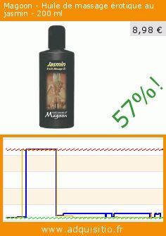 Magoon - Huile de massage érotique au jasmin - 200 ml (Beauté et hygiène). Réduction de 57%! Prix actuel 8,98 €, l'ancien prix était de 20,91 €. https://www.adquisitio.fr/magoon/huile-massage-%C3%A9rotique-au