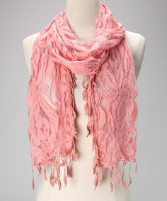 Take a look at this Dark Pink Lace Scarf by Violet Del Mar on #zulily today!