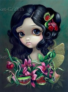Carnivorous Bouquet Fairy gothic fantasy lowbrow by strangeling, $13.99