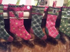 Our advent stockings.