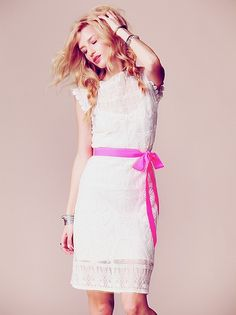 Miguelina Satya Short Lace Dress at Free People Clothing Boutique