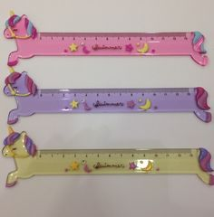 Unicorn rulers by Swimmer Japan