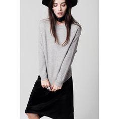 grey Waffle Knit Sweater