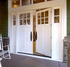 Front door. Front door is Pella Doors- Provincial finish. Entry ...