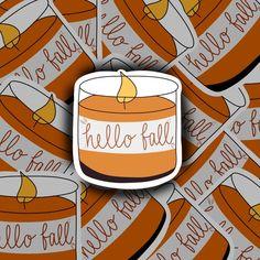 Hello Fall Sticker Laptop Sticker Waterproof Sticker | Etsy