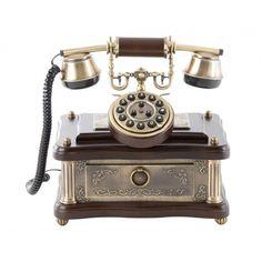 Teléfono clásico rectangular cajón