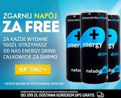 Wydając 100 ZŁ na dowolne odżywki lub suplementy diety zgarniasz napoje energetyczne gratis => http://www.kulturystyka.sklep.pl/Aminokwasy,c1002.html | Wydane 100 pln = 1 energy drink od #kulturystyka_sklep!  #newsletter #okazja #promocja #darmo #zadarmo #odżywki #suple #sklep #gliwice #muscle #gym #fitness #bodybuilding