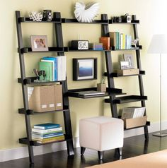The Container Store > Linea Leaning Desk and 2 Linea Leaning Bookcases