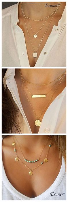 Elegant and fashionable necklaces for your office or daily look!