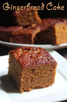Super Moist Gingerbread Cake Recipe - Gingerbread Snacking Cake Recipe - Yummy Tummy