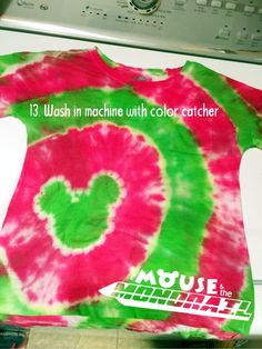 DIY step by step how-to guide to making your own Mickey ears tie-dye t shirts. Perfect for large families wanting matching shirts!