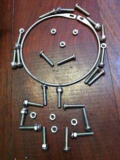 Nuts and bolts are great for freestyle art activities. It is also good for working the imagination. Play Based Learning, Learning Centers, Early Learning, Science Centers, Reggio Emilia, Kindergarten Art, Preschool Art, Reggio Classroom, Preschool Classroom