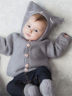 Babykofta med luva Novita Baby Wool | Novita knits