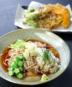 Japanese food / おろし蕎麦 Oroshi Soba and Tempura