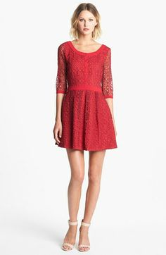 ALICE by Temperley 'Mitsu' Embroidered Organza Fit & Flare Dress available at #Nordstrom