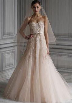 Gorgeous Blush Wedding Dress.