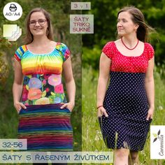 UPGRADE: Šaty symfonie – 34 – 56 (horní díl) – Caramilla.cz Short Sleeve Dresses, Dresses With Sleeves, Lily Pulitzer, Fashion, Moda, Sleeve Dresses, Fashion Styles, Gowns With Sleeves, Fashion Illustrations