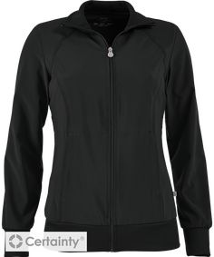 Black Scrubs, Scrub Jackets, Sporty Look, Scrub Tops, Princess Seam, Jacket Style, Black Print, Cherokee, Poplin