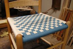 Checkerboard in teal and natural Teal, Construction, Patterns, Chair, Natural, Kitchen, Furniture, Home Decor, Building