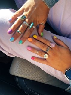 Aycrlic Nails, Diy Nails, Cute Nails, Pretty Nails, Hair And Nails, Nail Ring, Nail Jewelry, Minimalist Nails, Best Acrylic Nails
