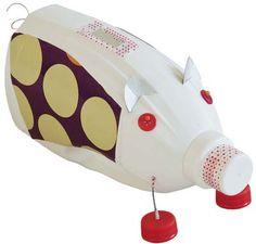 Sparschwein , Bastelidee für Kinder