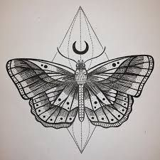 Image result for geometric moth tattoo