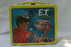 VINTAGE 1982 E.T. THE EXTRA-TERRESTRIAL METAL LUNCH BOX BY ALADDIN