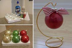DIY Glitter Christmas Ornament (No-Mess)