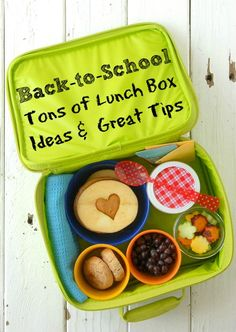 Back-to-School Lunch Ideas - I love my son's school to pieces, but their school lunches aren't as healthy as I'd like them to be. Definitely need some good ideas for healthy lunches! -www.nelleandlizzy.com