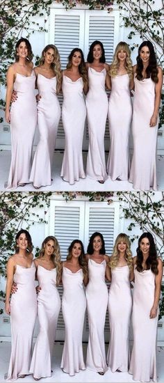 30eac9235c1bd3 Pretty Sheath Spaghetti Straps Sleeveless Long Bridesmaid Dresses,VPWG –  VeryProm Надихаючі Весілля, Весілля